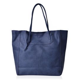 Navy Colour Classic City Shopper Bag (Size 34x31x10.5 Cm)