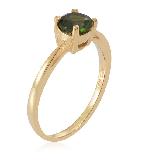 Russian Diopsode (Rnd) Solitaire Ring in 14K Gold Overlay Sterling Silver 1.000 Ct.