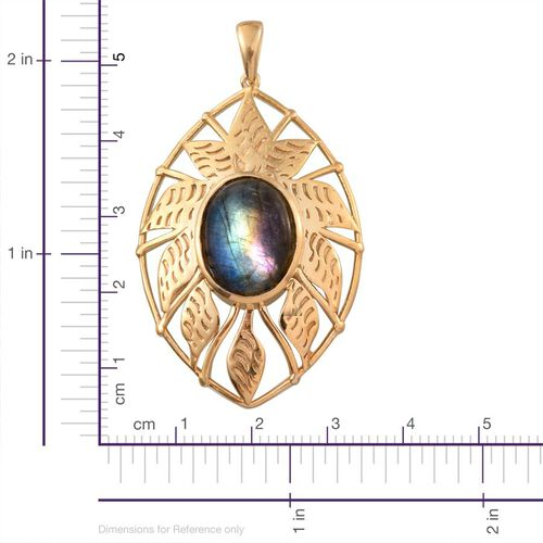 Labradorite (Ovl) Pendant in 14K Gold Overlay Sterling Silver 6.750 Ct.