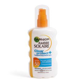 Garnier Ambre Solaire Clear Protect Sun Cream Spray SPF50 200ml