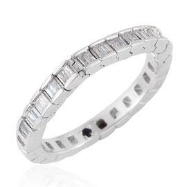 GP Diamond Dream (Bgt), Kanchanaburi Blue Sapphire Ring in Platinum Overlay Sterling Silver 0.350 Ct.