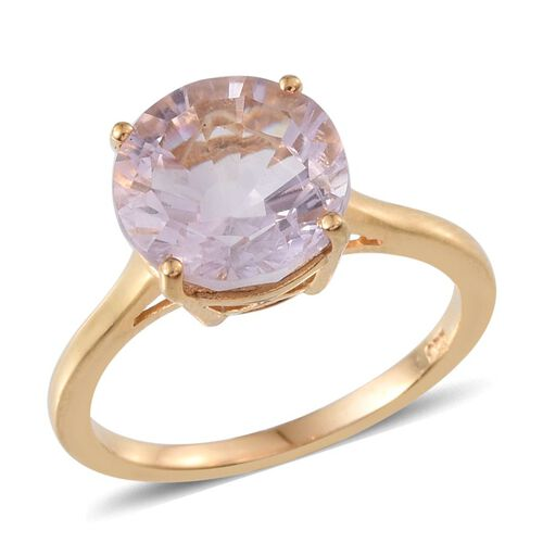 Brazilian Amethyst (Rnd) Solitaire Ring in 14K Gold Overlay Sterling Silver 3.250 Ct.