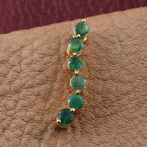 Brazilian Emerald (Rnd) Pendant in 14K Gold Overlay Sterling Silver 0.500 Ct.