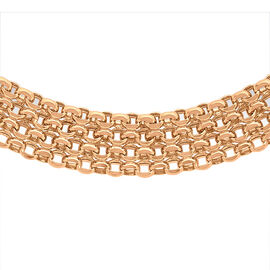 Close Out Deal Italian 9K R Gold Garibaldi Chain (Size 17), Gold Wt 11.10 Gms.