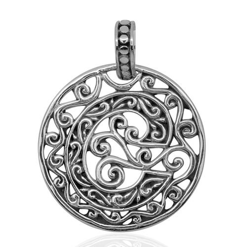 Royal Bali Collection Sterling Silver Initial C Pendant, Silver wt 3.90 Gms.
