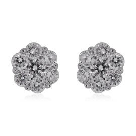 ILIANA 18K White Gold IGI Certified Diamond (Rnd) (SI/G-H) Floral Stud Earrings 0.500 Ct.