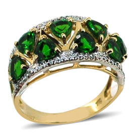AAA Rare Trillion 9K Y Gold Russian Diopside (Trl) Ring 2.000 Ct.