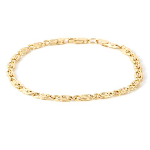 Designer Inspired - Italian Made Vicenza Collection Scroll Bracelet 9K Y Gold Bracelet (Size 8), Gold wt 4.00 Gms.