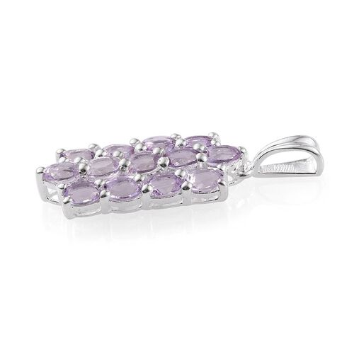 Rose De France Amethyst (Ovl) Pendant in Sterling Silver 2.000 Ct.