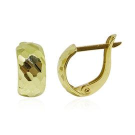 9K Y Gold Diamond Cut Hoop Earrings (with Clasp)