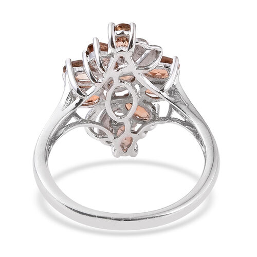 Jenipapo Andalusite (Ovl) Ring in Platinum Overlay Sterling Silver 2.250 Ct.
