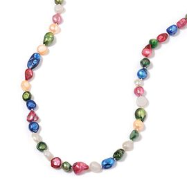 Pink and Multi Colour Keshi Pearl Necklace (Size 48) 510.000 Ct.