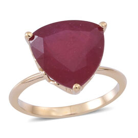 9K Y Gold African Ruby (Trl) Solitaire Ring 8.000 Ct.