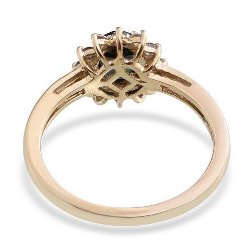 9K Y Gold AAA Monte Belo Indicolite (Ovl 0.75 Ct), Diamond Ring 1.000 Ct.