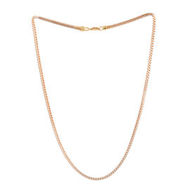 14K Gold Overlay Sterling Silver Franco Chain (Size 20), Silver wt 9.00 Gms.