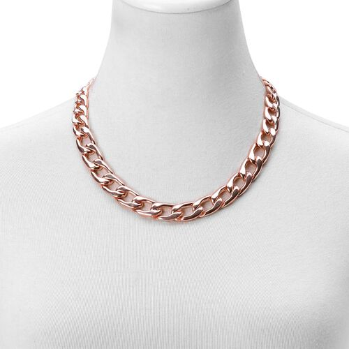 Limited Available Graduated Curb Necklace (Size 20 with 2 inch Extender) in Rose Gold Tone