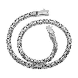 Royal Bali Collection Sterling Silver Borobudur Necklace (Size 20), Silver wt 122.39 Gms.