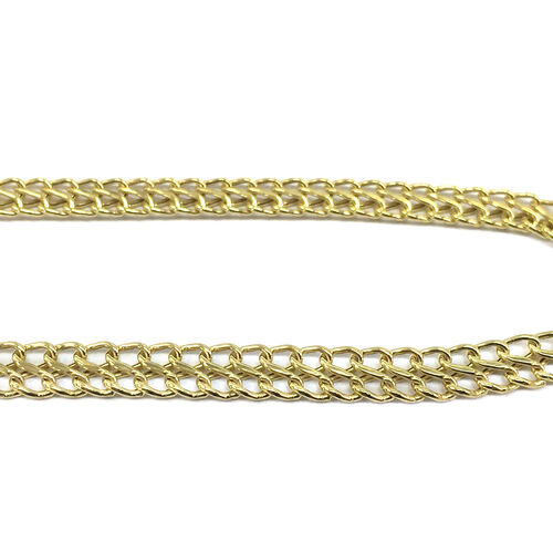 JCK Vegas Collection 9K Y Gold Double Curb Necklace (Size 17), Gold wt 12.00 Gms.