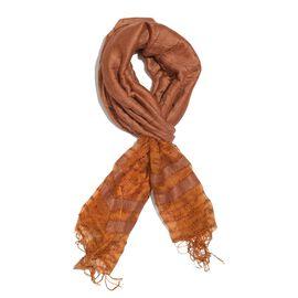 Brown Colour Reversible Scarf (Size 180x70 Cm)