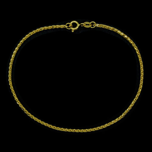 JCK Vegas Collection ILIANA 18K Y Gold Foxtail Bracelet (Size 7.5)