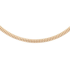 JCK Vegas Collection  9K Y Gold Otto Necklace (Size 17), Gold wt 9.70 Gms.