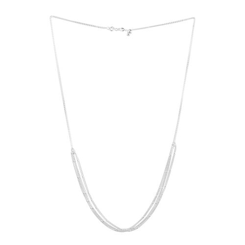 Sterling Silver Adjustable 3 Strand Chain (Size 20), Silver wt 3.10 Gms.