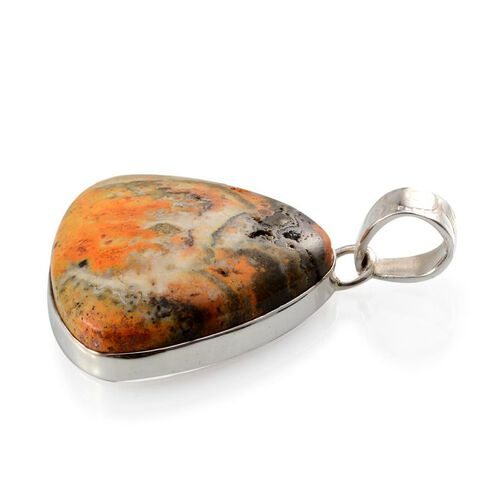 Bumble Bee Jasper (Trl) Solitaire Pendant in Sterling Silver 44.640 Ct.