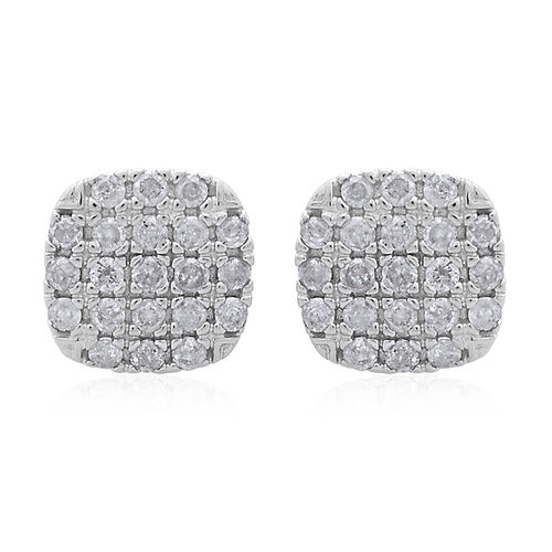 9K White Gold 0.50 Carat Diamond Stud Earrings SGL Certified I3 G H
