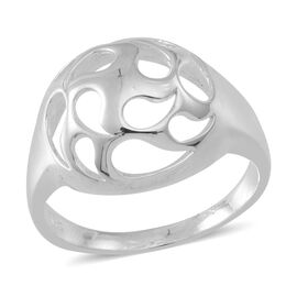 Thai Sterling Silver Open Filigree Ring, Silver wt 4.19 Gms.