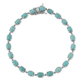 Sonoran Turquoise (Ovl) Bracelet (Size 8) in Platinum Overlay Sterling Silver 9.500 Ct.