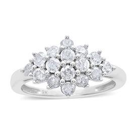 9K W Gold SGL Diamond Diamond (Rnd) (I3/G-H) Ring 1.000 Ct.