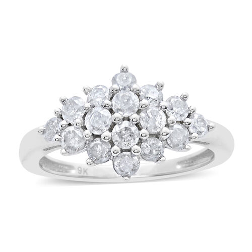 9K W Gold SGL Certified Diamond (Rnd) (I3/G-H) Ring 1.000 Ct.