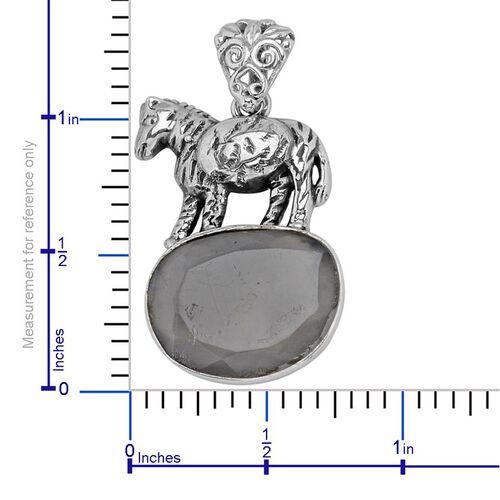 Creature Couture - Zebra Pendant with Sri Lankan Titanium Moonstone in Sterling Silver 6.000 Ct.