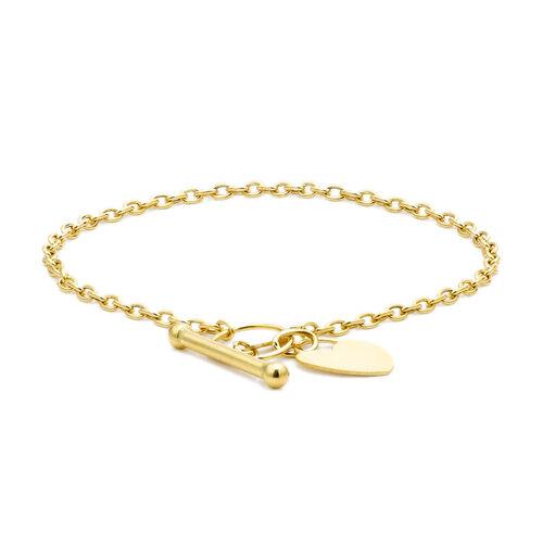 PERSONAL SHOPPER 9K Y Gold Heart Bracelet (Size 7), Gold wt 2.00 Gms.