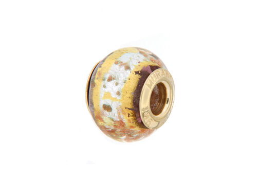 Close Out Deal 9K Y Gold Multi Colour Murano Glass Bead Charm