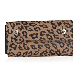 Limited Edition Genuine Leather Leopard Print Clutch (Size 23x12 Cm)