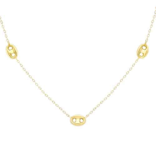 Vicenza Collection - 9K Y Gold Belcher and Anchor Link Necklace (Size 18) Gold Wt 3.90 Gms