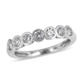 ILIANA 18K W Gold IGI Certified Diamond (Rnd) (SI / G-H) 7 Stone Ring 0.500 Ct.