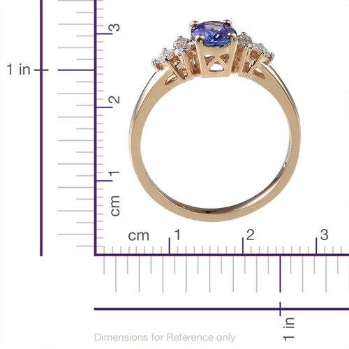 9K Y Gold Tanzanite (Ovl 1.25 Ct), Diamond Ring 1.500 Ct.