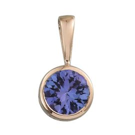 9K Y Gold AA Tanzanite (Rnd) Solitaire Pendant 1.000 Ct.