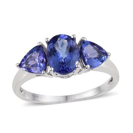 14K W Gold AAA Tanzanite (Ovl 1.65 Ct) Ring 3.000 Ct.