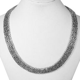 Royal Bali Collection Sterling Silver Borobudur Necklace (Size 17), Silver wt 142.73 Gms.