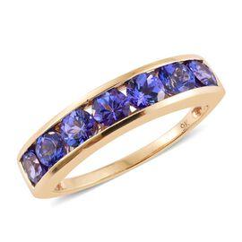 9K Y Gold AA Tanzanite (Rnd) 7 Stone Ring 2.000 Ct.
