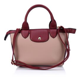 Tan Colour Top Handle Bag with Adjustable and Removable Shoulder Strap (Size 33x23x11 Cm)