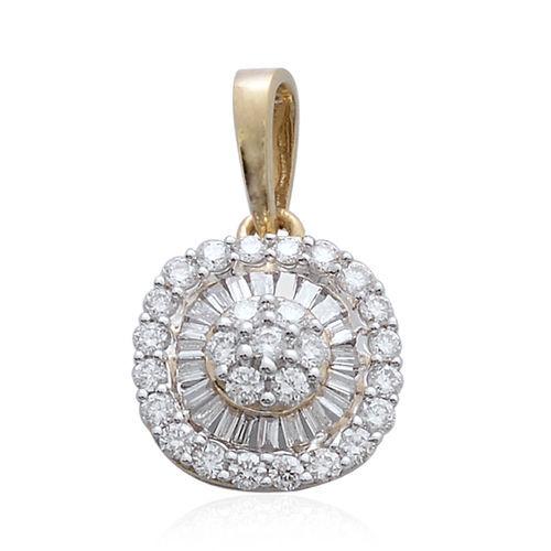ILIANA 18K Y Gold IGI Certified Diamond (Rnd) (SI/G-H) Pendant 0.500 Ct.