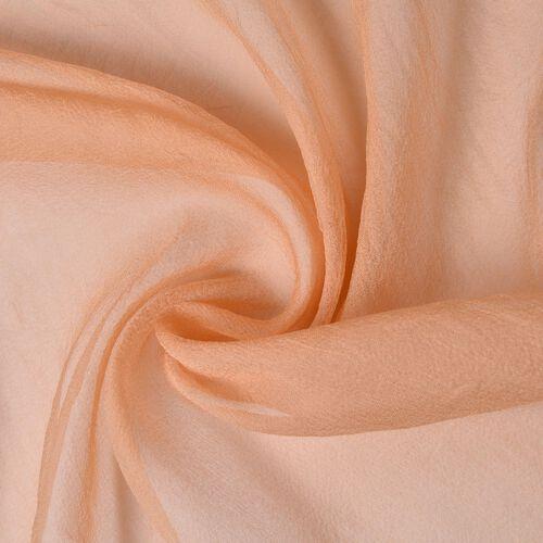 100% Mulberry Silk Peach Colour Scarf (Size 170X70 Cm)