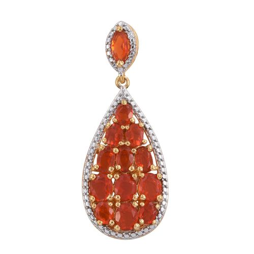 Jalisco Fire Opal (Ovl) Pendant in 14K Gold Overlay Sterling Silver 2.000 Ct.