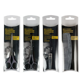 Ben Cohen Male Grooming Kit 1- Hand Nail Clipper, Moustache & Beard Scissors, Nose & Ear Hair Scissors, Moustache & Beard Comb