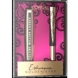 (Option 2) Loreal Beauty Products.  Volume Million Lashes mascara Black and Superliner Gold