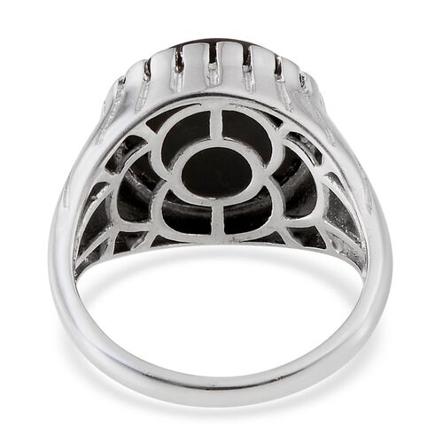 Goldenite (Rnd) Solitaire Ring in Platinum Overlay Sterling Silver 7.000 Ct.